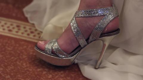 Wedding sandals with glitter 86 영상물
