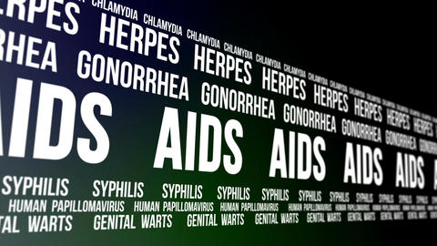 Sexually Transmitted Diseases Words Scrolling Animation