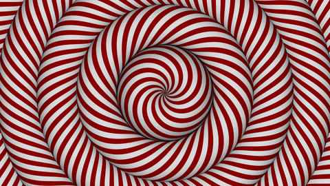 hypnotic background with red and white concentric circles in motion Animation