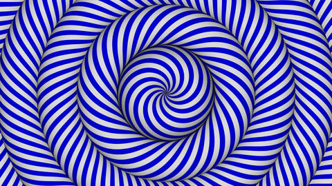 hypnotic background with blue and white concentric circles in motion Animation