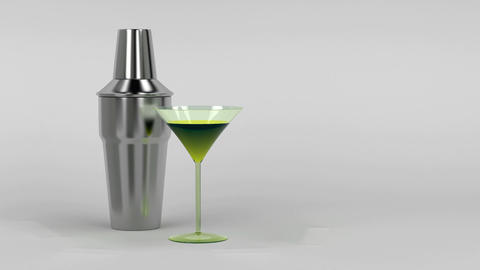 Shaker and cocktail glass Animation
