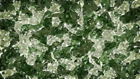 Oil painted green camouflage background Animation