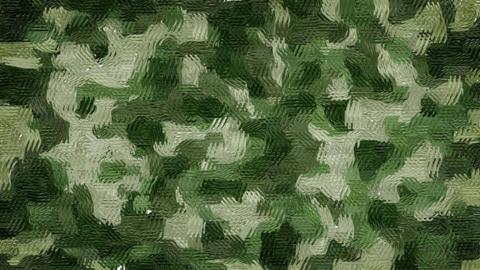 Oil painted khaki camouflage background Animation
