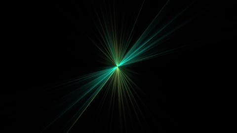 Green Star Shining on Black Animation