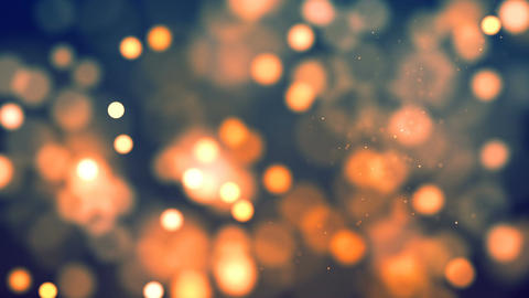 HD Loopable Background with nice orange bokeh CG動画素材