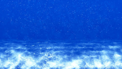 HD Loopable Background with nice blue waves CG動画素材