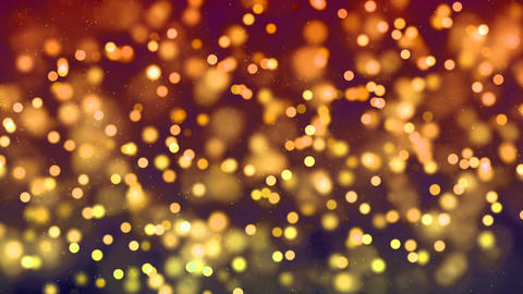 HD Loopable Background with nice golden bokeh CG動画素材