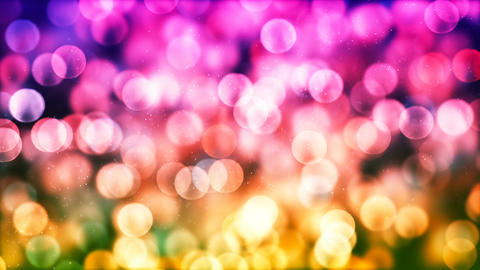 HD Loopable Background with nice colorful glowing bokeh CG動画素材