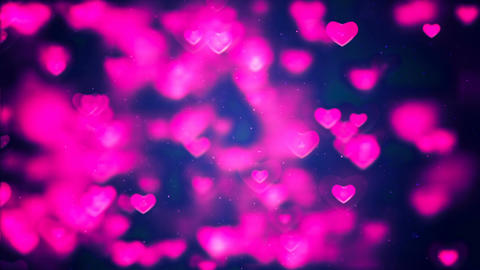 HD Loopable Background with nice pink hearts Image