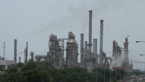 Oil Refinery Footage