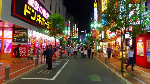 Pedestrian zone of Musashino street shinjuku Tokyo Japan ライブ動画