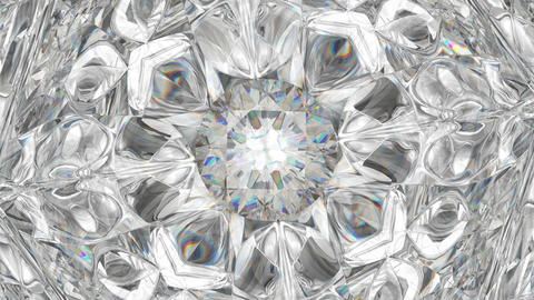 sparkling diamond macro rotating seamless loop. kaleidoscope Stock Video Footage