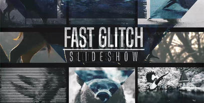 Fast Glitch Slideshow After Effects Template