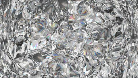 sparkling diamond macro rotating seamless loop. kaleidoscope Animation