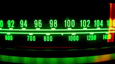 Changing radio light Footage