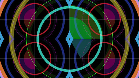Colorful graph circles Footage