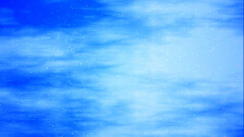 HD Loopable Background with nice blue clouds Animation