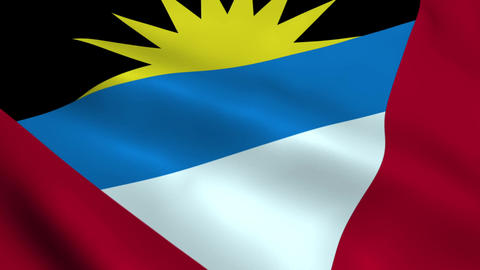 Realistic Antigua and Barbuda flag Animation