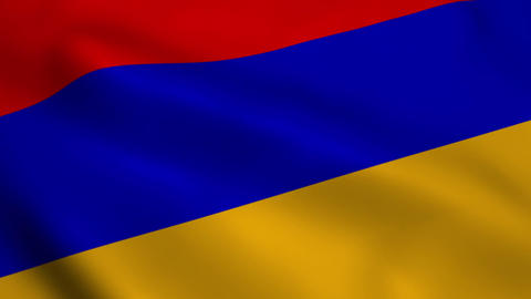 Realistic Armenia flag Animation