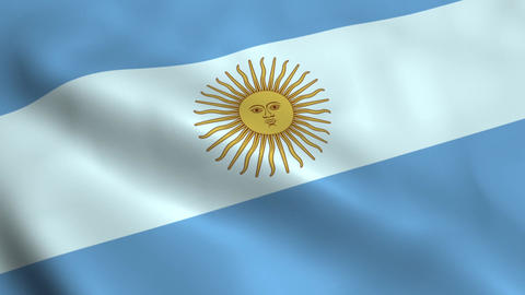 Realistic Argentina flag Animation