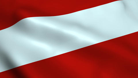 Realistic Austria flag Animation