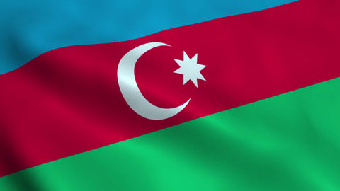 Realistic Azerbaijan flag Animation