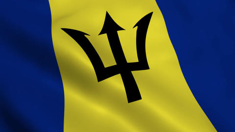 Realistic Barbados flag Animation