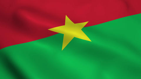 Realistic Burkina Faso flag Animation