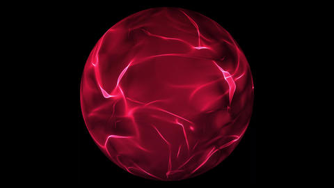 Red glowing energy ball over transparent background Animation