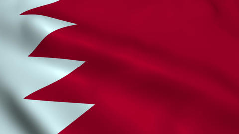 Realistic Bahrain flag Animation