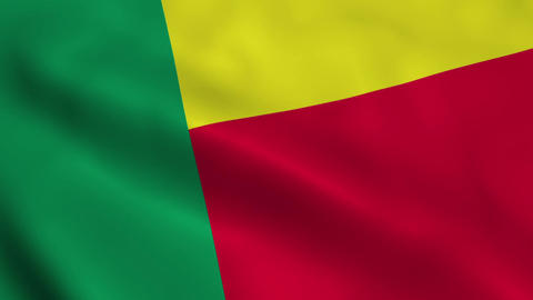Realistic Benin flag Animation