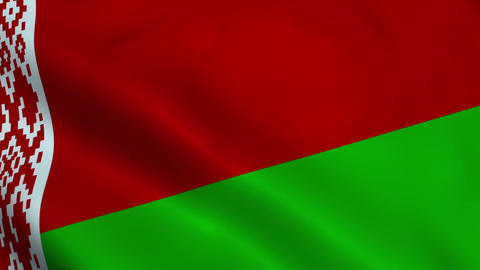 Realistic Belarus flag Animation