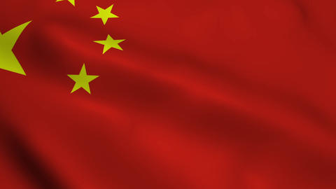 Realistic China flag Animation