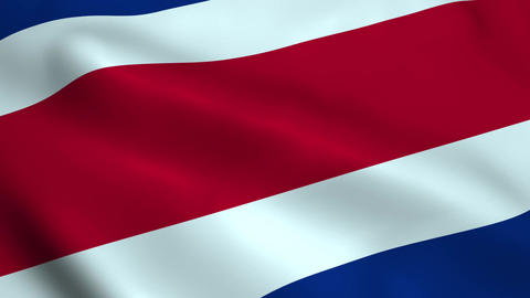Realistic Costa Rica flag Animation