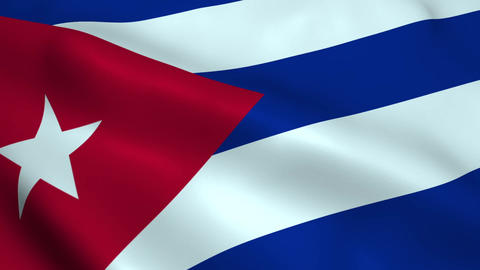 Realistic Cuba flag Animation