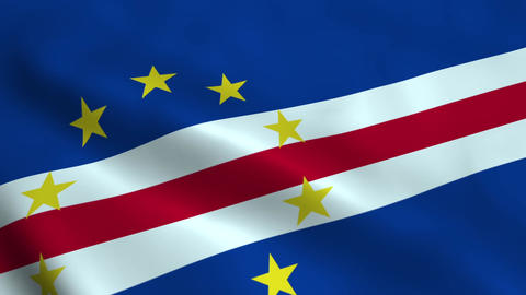 Realistic Cape Verde flag Animation