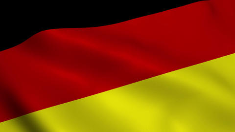 Realistic Germany flag Animation
