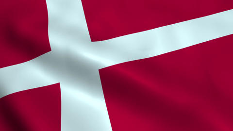 Realistic Denmark flag Animation