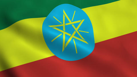 Realistic Ethiopia flag Animation