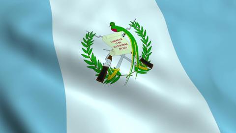 Realistic Guatemala flag Animation