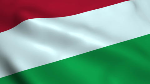 Realistic Hungary flag Animation