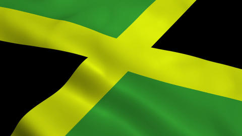 Realistic Jamaica flag Animation