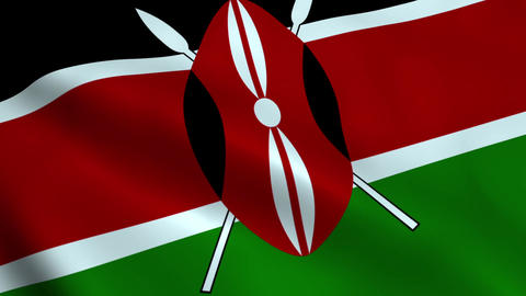 Realistic Kenya flag Animation