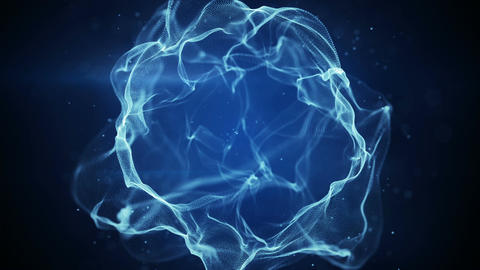 Blue plasma spheric form seamles loop animation Animation