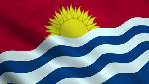 Realistic Kiribati flag Animation
