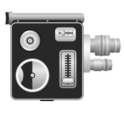 Old spring drive camera - vector Vector