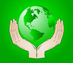 Earth in your hands - vector Vector