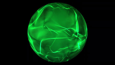 Green glowing energy ball over transparent background Stock Video Footage