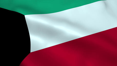 Realistic Kuwait flag Animation