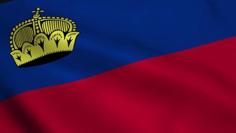 Realistic Liechtenstein flag Animation